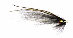 Imagen de TUBE FLIES BLACK & SILVER MONKEY