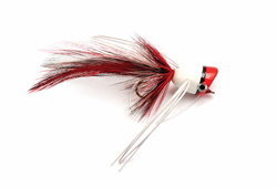 Imagen de STREAMER BASS POPPER RED & WHITE