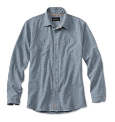 Immagine di ORVIS TECH CHAMBRAY WORK SHIRT BLUE CHAMBRAY