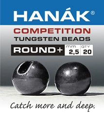 Bild von HANAK TUNGSTEN BEADS ROUND + BLACK NICKEL