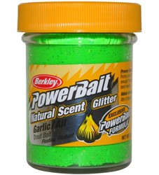 Image de BERKLEY TROUT BAIT GARLIC SPRING GREEN GLITTER NATURAL SCENT