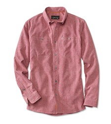 Bild von ORVIS TECH CHAMBRAY WORK SHIRT RED