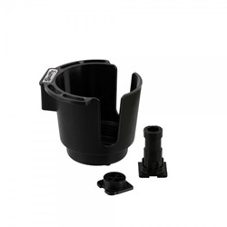 Immagine di SCOTTY BLACK CUP HOLDER WITH BULKHEAD / GUNNEL MOUNT AND ROD HOLDER POST MOUNT / GETRÄNKEHALTER