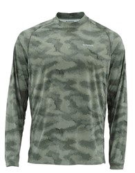 Picture of SIMMS SOLARFLEX CREWNECK PRINTS HEX CAMO LODEN