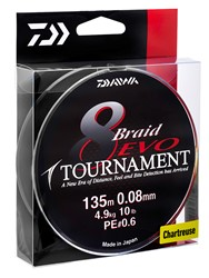 Bild von DAIWA TOURNAMENT 8 BRAID EVO CHARTREUSE 135m