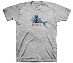 Picture of SIMMS T-SHIRT ADAMS FLY GREY HEATHER