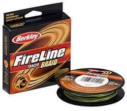 Picture of BERKLEY FIRELINE TRACER BRAID YELLOW/BLACK 110m
