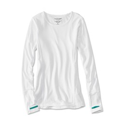 Picture of ORVIS OUTSMART TECH TEE WHITE WOMAN